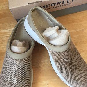 Merrell Primo Breeze Mesh Clogs - Tan - sz 11